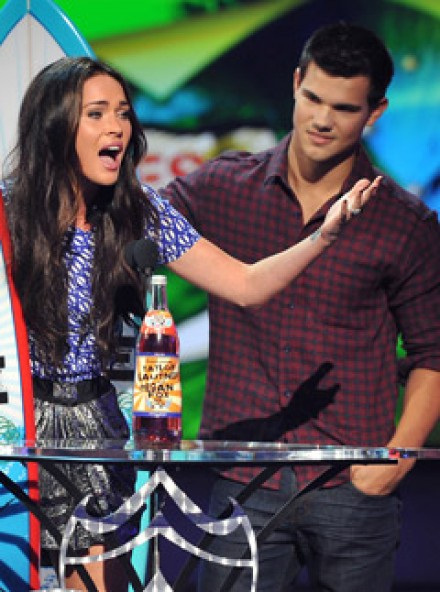 Megan Fox and Taylor Lautner