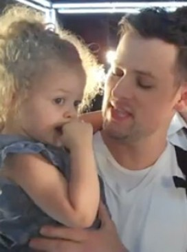 Joel and Harlow Madden - WATCH: Nicole Richie's daughter Harlow in Good Charlotte video - Nicole Richie Harlow - Good Charlotte - Nicole Richie Joel Madden - Celebrity News - Marie Claire
