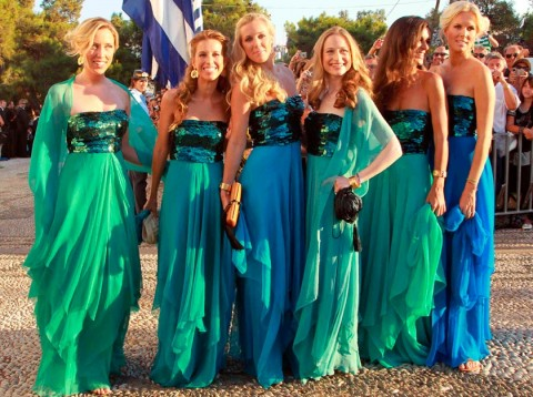 Bridesmaids-Greek-Royal-Wedding-Wedding Photos-25 August 2010