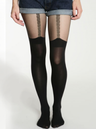 House of Holland for Pretty Polly Chain Suspender tights - Fashion Buy of the Day, Marie Claire