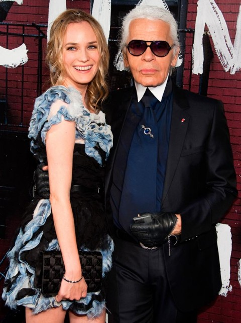 Diane-Kruger-and-Karl-Lagerfeld-Chanel Boutique Opening Party-New York Fashion Week Spring Summer 2011-9 September 2010
