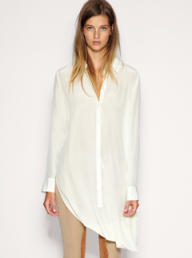 ASOS White silk hitch-hem shirt - Fashion Buy of the Day - Shopping, daily, pick, style, Marie Claire