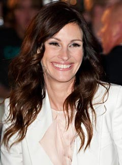 Julia Roberts at the London premiere of Eay Pray Love