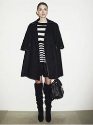 Reiss black cape coat