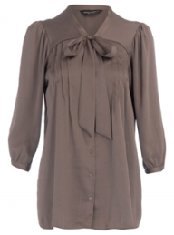 Dorothy Perkins mocha pintuck blouse - Fashion Buy of the Day, Marie Claire