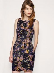 Darling Tulip Dress In Winter Floral Print