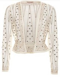 A Wear Beaded Crop Jacket