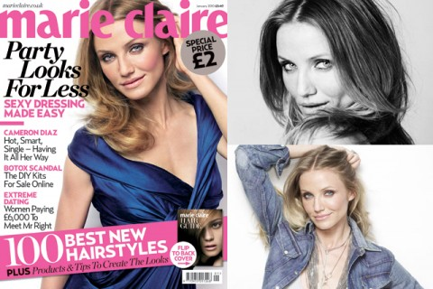 January - Cameron Diaz - Marie Claire Covers 2010 - Marie Claire UK cover stars - celebrity pictures - exclusive photos