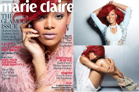 December - Rihanna - Marie Claire Covers 2010 - Marie Claire UK cover stars - celebrity pictures - exclusive photos