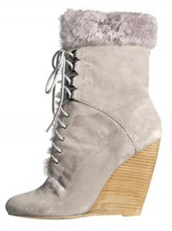 Reiss Thandi fur-trim wedge boot - Fashion Buy of the Day, Marie Claire
