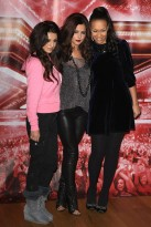 Cher Lloyd, Cheryl Cole and Rebecca Ferguson - X Factor Final press conference - judges, contestants, finalists, photo call, see, pics, pictures, question and answer, q&a, duets, celebrity, news, 2010, Marie Claire