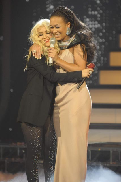 Christina Aguilera and Rebecca Ferguson - X Factor Final 2010