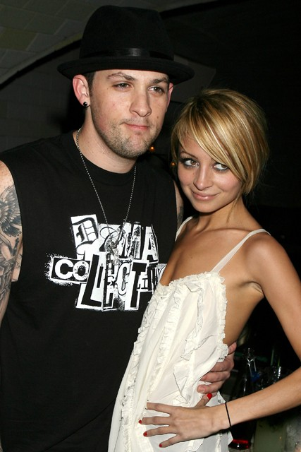 Joel Madden with Wife