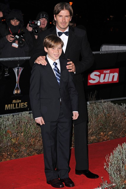 David Beckham and Brooklyn Beckham - The Sun Military Awards - Marie Claire