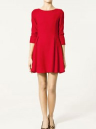 Zara seamed and pleated dress