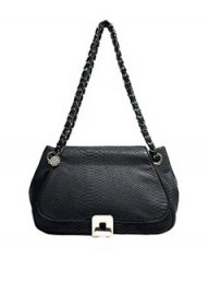 Reiss turn lock shoulder bag