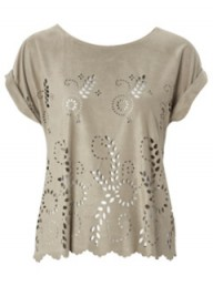 Matalan Be Beau suedette laser cut top - Fashion buy of the day, Marie Claire