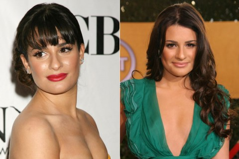 Lea Michele - celebrity fringes - hairstyles