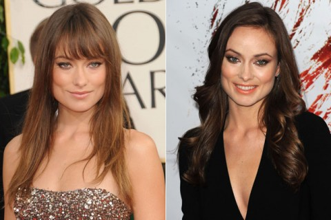 Olivia Wilde - celebrity fringes - hairstyles