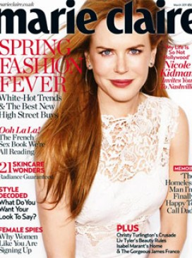 Nicole Kidman for Marie Claire - interview, march, issue, cover, star, Marie Claire