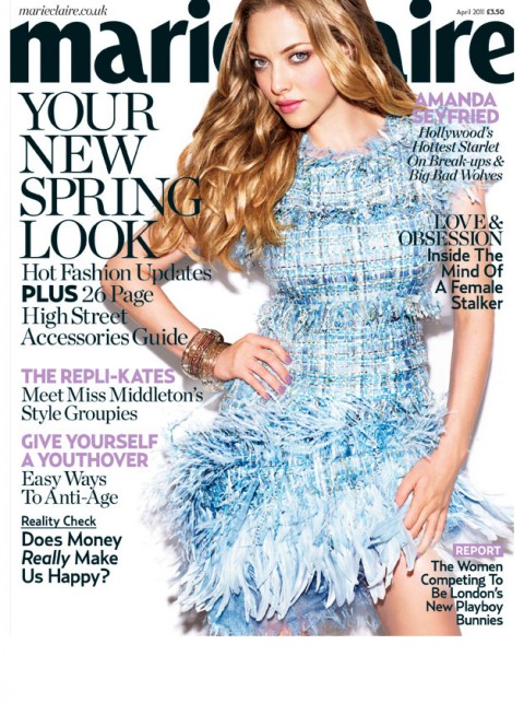 Amanda Seyfried Photos Marie Claire Cover Shoot April 2011