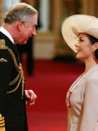 Prince Charles and Catherine Zeta-Jones - awarded, honoured, honour, made, CBE, Commander of the British Empire, Michael Douglas, Buckingham Palace, celebrity, news, Marie Claire