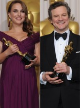 Colin Firth Natalie Portman - Colin Firth and Natalie Portman clean up at the Oscars - Oscars 2011 - The Oscars - Oscars 2011 Winners - Winners - Academy Awards - The Oscars 2011 - Oscar 2011 Winners - Colin Firth - Natalie Portman - The King's Speech - B