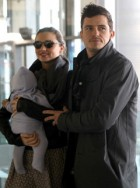 Miranda Kerr Orlando Bloom - Miranda Kerr and Orlando Bloom jet off with baby Flynn - MIranda Kerr - Orlando Bloom - Balenciaga - Paris Fashion Week - Marie Claire - Marie Clarie UK