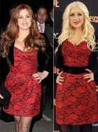 Isla Fisher Vs Christina Aguilera - Who wore it best?