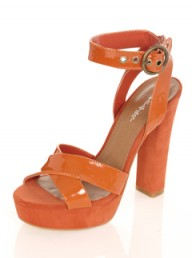 Miss Selfridge Orange Block Heels