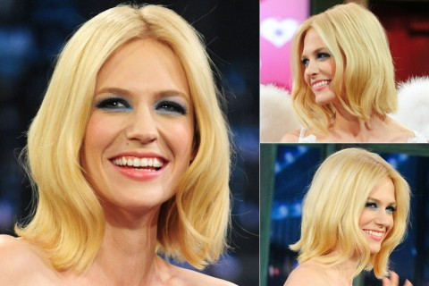 January Jones - Best, celebrity, bobs, bob, bobbed, hair, hairstyles, haircut, inspiration, celebs, beauty, Marie Claire