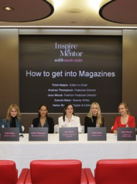 How to get into magazines panel at Marie Claire HQ