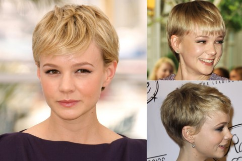 Carey Mulligan - celebrity short hairstyles - short hair