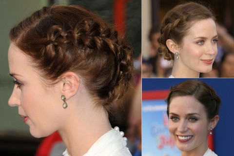 Emily Blunt - Best, celebrity, updo, updos, up, do, hair, hairstyle, hairstyles, hairdos, a-list, inspiration, red carpet, party, wedding, bun, plait, beauty, Marie Claire