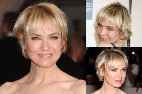 Renee Zellweger - short celebrity hairstyles - short hair