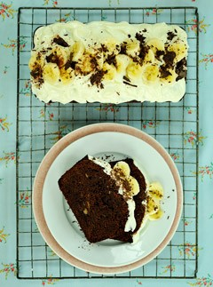 Warm-Chocolate-and-Banana-Cake, Recipes from the Love Verb by Jane Green