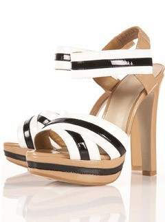 Topshop Laney stripey patent sandals - Fashion Buy of the Day, Marie Claire