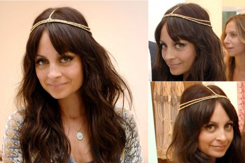 Nicole Richie - hair accessories - celebrity hairstyles