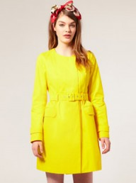 ASOS collarless belted mac - Fashion Buy of the Day, Marie Claire