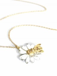 Alex Monroe Burt's Bees Honeybee & Flower Necklace