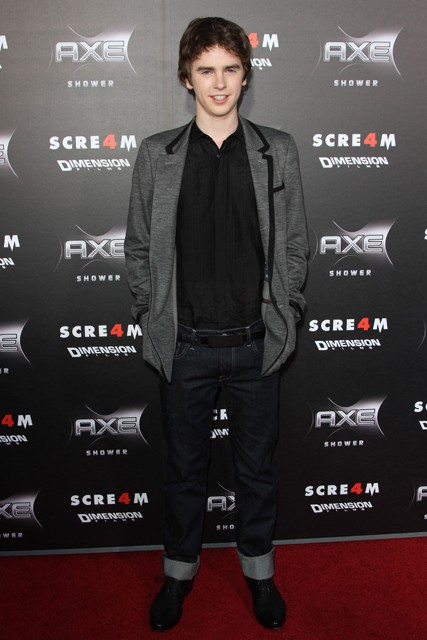 Freddie Highmore at the Scream 4 premiere