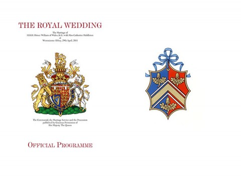 Royal Wedding Programme - Prince William Kate Middleton - Kate Middleton - Marie Claire - Marie Claire
