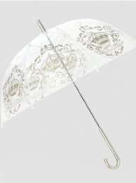 M&S Lace Heart & Crown Print Dome Umbrella