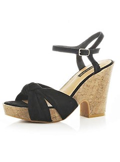 River Island black strap sandals