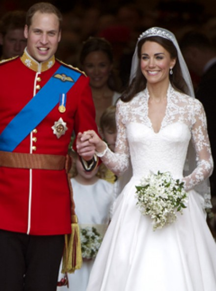 Kate Middleton's wedding dress - Sarah Burton, Alexander McQueen