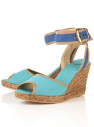 Topshop colour block espadrille wedges