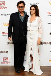 Penelope Cruz and Johnny Depp at the London Pirates of the Caribbean 4 premiere