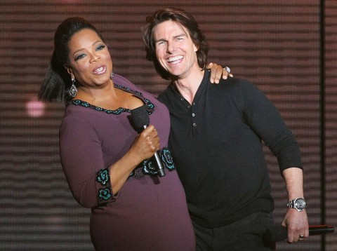 Oprah and Tom Cruise - Oprah Winfrey - Oprah Winfrey's star-studded final show - Oprah - Marie Claire - Marie Claire UK