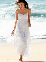 H&amp;M white maxi dress