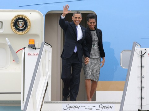 Barack and Michelle Obama - Barack Obama - Michelle Obama - President Obama - The Obamas' European Tour - UK - Ireland - Marie Claire - Marie Claire UK